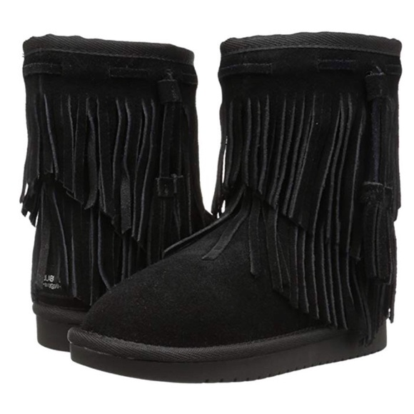 3a125861819  Koolaburra Cable Fringe Boots by UGG Black